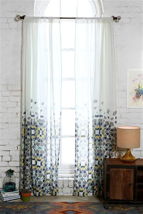 Blue Moroccan Tile Curtain Panels by Magical Thinking Moroccan Tile Curtain Blue