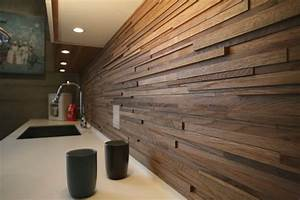 Wooden backsplash