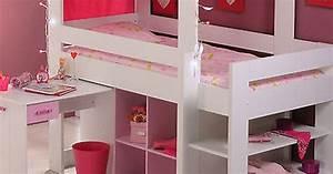Spielbett Mädchen : m dchen kinderbett hochbett kinder rosa spielbett ~ Pilothousefishingboats.com Haus und Dekorationen