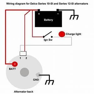 Delco Remy 3 Wire Alternator Wiring Diagram