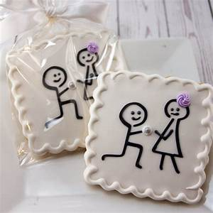 engagement cookies wedding cookies stick figure 12 With decorated sugar cookies for weddings