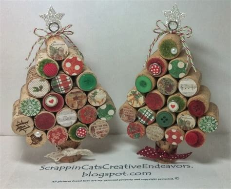 cork christmas tree welcome to scrappin cat s creative endeavors wine cork trees