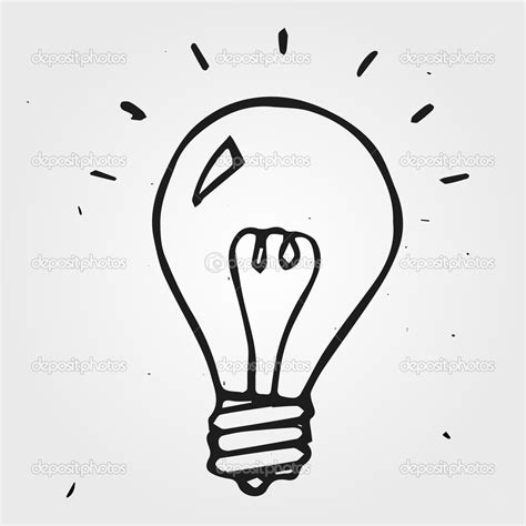 How To Draw A Light Bulb by Light Bulb Vector Clipart Panda Free