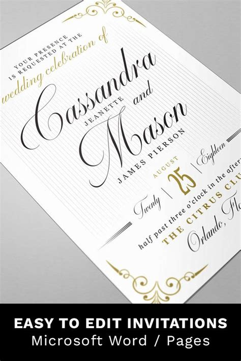 Wedding Invitation Suite RSVP with Meal Choices Details