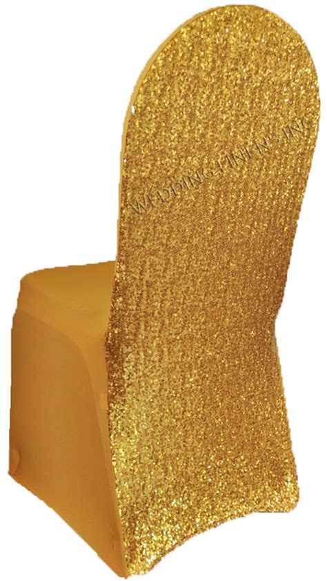 gold sequin spandex chair covers wholesale