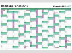 FERIEN Hamburg 2019 Ferienkalender & Übersicht