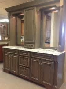 double vanity with linen tower middle google search