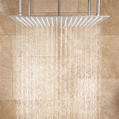 Shower In - oversized square stainless steel shower bathroom