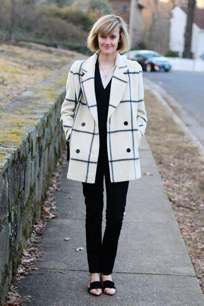 ivory plaid vintage coats black cardigan la redoute sweaters quot bit of blush quot by districtofchic