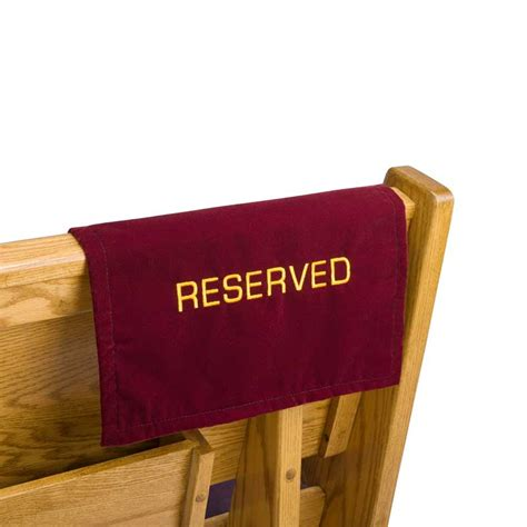 pew reserve sign velvet churchsupplies