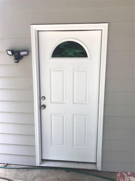 therma tru smooth star fiberglass  basement door