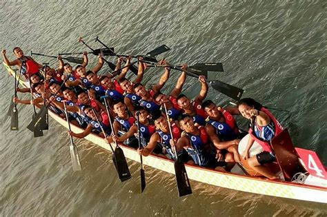 philippine dragon boat team  join inaugural kings cup elephant boat race  festival