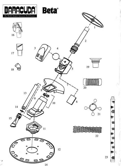baracuda beta replacement parts diagram