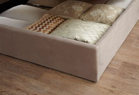 serene evelyn ft single fabric ottoman bed