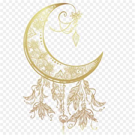 tattoo moon drawing dreamcatcher illustration moon creative retro vector material png