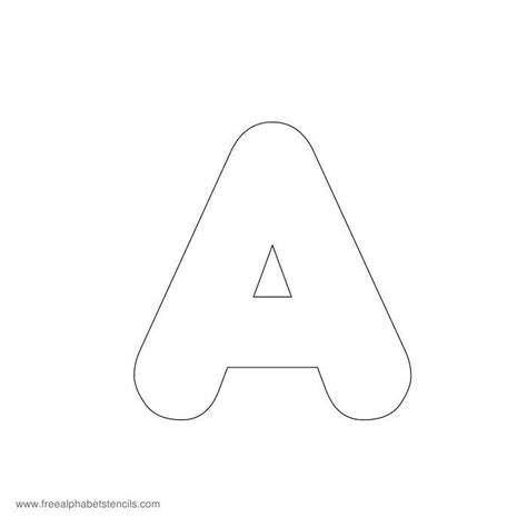 free printable alphabet stencils templates alphabet letters templates printable sle letter template