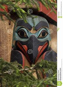 Eskimo totem pole bird stock photo Image of carving