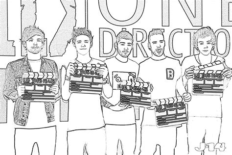 10 Printable One Direction Coloring Pages 8