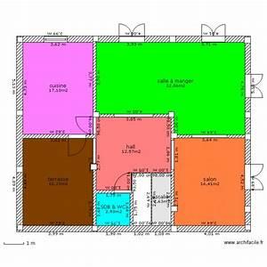 maison algerie 1er etage plan 7 pieces 100 m2 dessine With plan de maison algerie 200m2