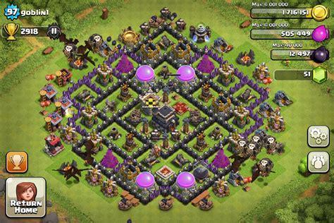 clash of clans base designs top 10 clash of clans town level 9 defense base design