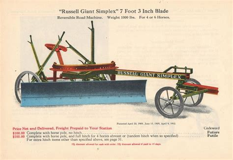russell grader catalog page   farm equipment