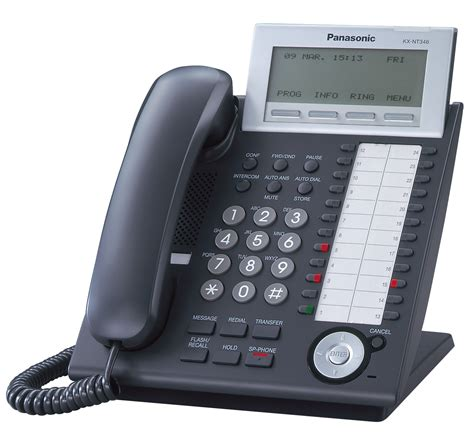 panasonic phone system kx nt346 black angle