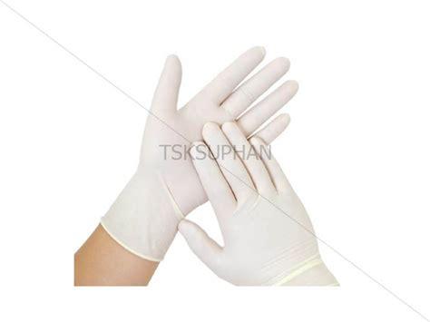 ถุงมือยาง สีขาว size M/L
