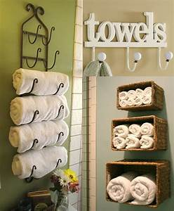 pin by michele redmond on master bath ideas pinterest With 7 creative ideas for bathroom towel storage