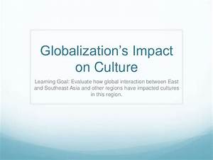 Culture Impact Of Globalization