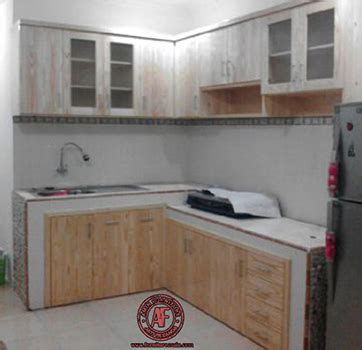 kitchen set berbahan kayu jati belanda amin furniture