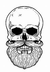 Barbudo Barba Tattoo Tatuagens Barber Crânio Legais Esqueleto Desenhos Skull Tatto Tatuagem Para Coloring Escolha Pasta Sugar Caveira sketch template