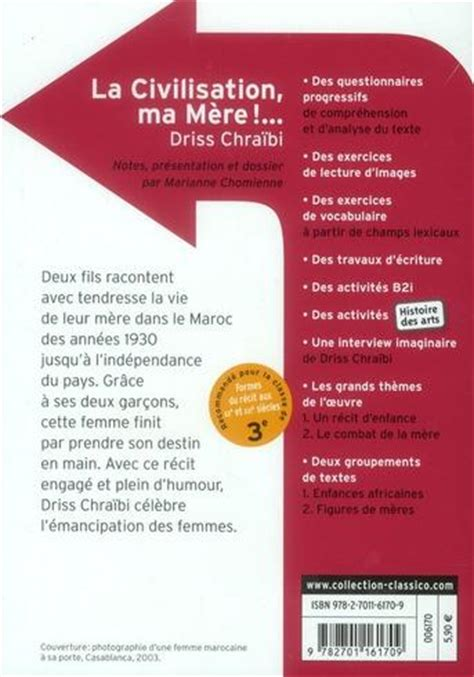 livre la civilisation ma m 232 re driss chra 239 bi