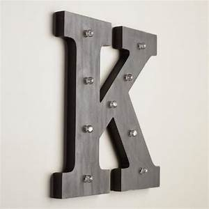 letter k led battery operated marquee light world market With battery operated lighted letters