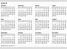 30 2019 Calendar Uk