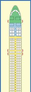 Spirit Airlines Airbus A320 Jet Aircraft Seating Layout Chart