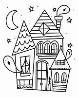 Coloring Halloween Haunted Printable Daylight Savings Adults Rad Colouring Sheets Colorare Adult Bestcoloringpagesforkids Radandhappy Witch Tante Fantasmi Stampare Immagini Getdrawings sketch template