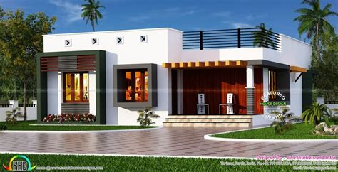 Box type single floor house Kerala house design One