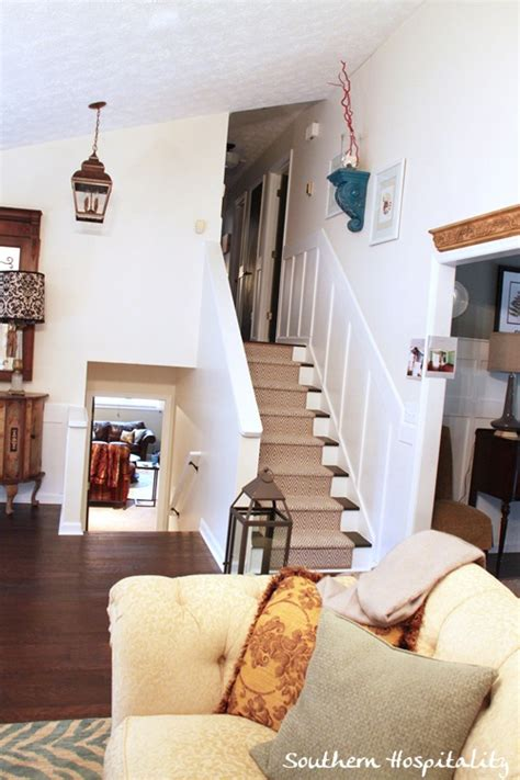 Adding To The Living Room by Painted Stairs And Adding Runners Southern Hospitality
