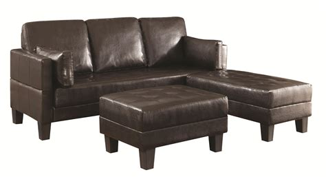 coaster ellesmere contemporary sofa bed group with 2