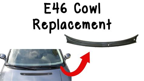 replace bmw  windshield cowl youtube