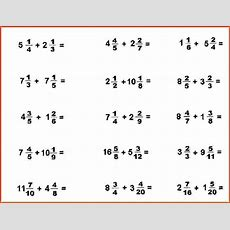 Adding Fractions Worksheet With Answers Picture Worksheet Mogenk Paper Works