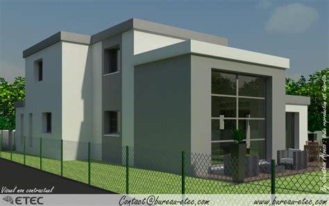 plan de maison 4 chambres maison toit terrasse chevigny etec