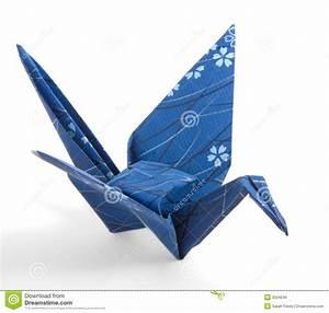 Dark Blue Origami Crane stock photo. Image of navy ...