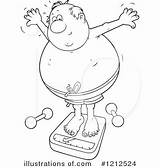 Clipart Overweight Illustration Royalty Bannykh Alex Rf sketch template