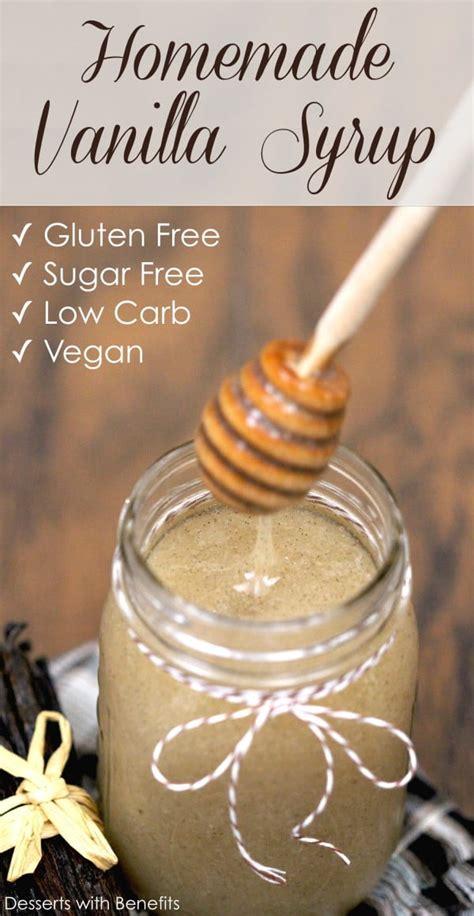 healthy sugar  vanilla bean syrup recipe desserts