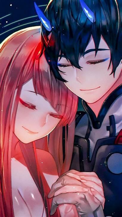Darling Franxx Hiro Zero Anime Hug Couple