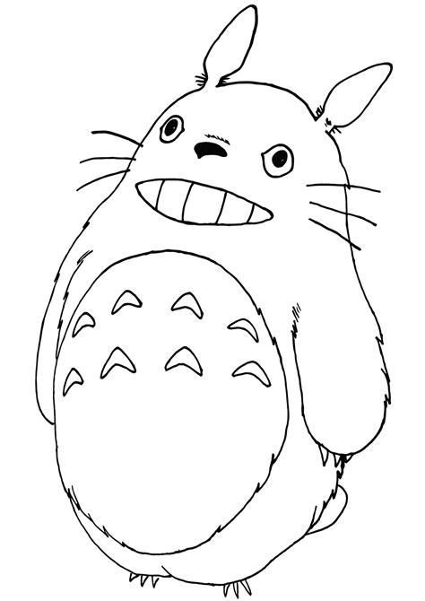 totoro coloring pages coloring pages    print