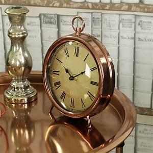 Vintage, Style, Copper, Mantel, Clock