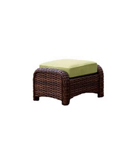 fiji resin wicker patio pillow top footstool ottoman