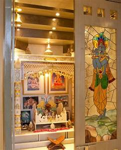 pooja room designs in hall pooja room hall stylish With what kind of paint to use on kitchen cabinets for hindu god wall art